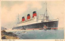 shp010913 - White Star Line Cunard Ship Post Card, Old Vintage Antique Postcard