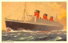 shp010917 - White Star Line Cunard Ship Post Card, Old Vintage Antique Postcard