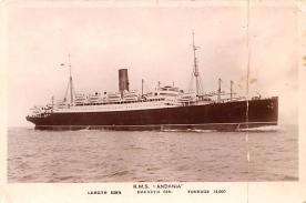shp010923 - White Star Line Cunard Ship Post Card, Old Vintage Antique Postcard