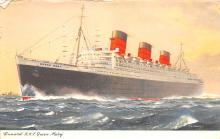 shp010925 - White Star Line Cunard Ship Post Card, Old Vintage Antique Postcard