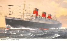 shp010927 - White Star Line Cunard Ship Post Card, Old Vintage Antique Postcard