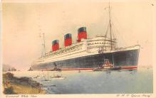 shp010929 - White Star Line Cunard Ship Post Card, Old Vintage Antique Postcard