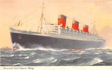 shp010931 - White Star Line Cunard Ship Post Card, Old Vintage Antique Postcard