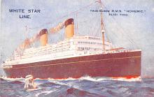 shp010933 - White Star Line Cunard Ship Post Card, Old Vintage Antique Postcard