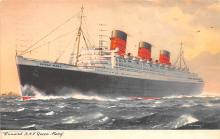 shp010935 - White Star Line Cunard Ship Post Card, Old Vintage Antique Postcard