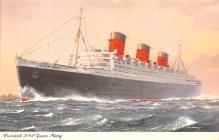 shp010937 - White Star Line Cunard Ship Post Card, Old Vintage Antique Postcard