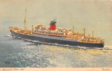 shp010939 - White Star Line Cunard Ship Post Card, Old Vintage Antique Postcard