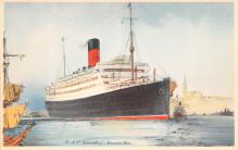 shp010945 - White Star Line Cunard Ship Post Card, Old Vintage Antique Postcard