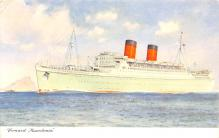 shp010951 - White Star Line Cunard Ship Post Card, Old Vintage Antique Postcard