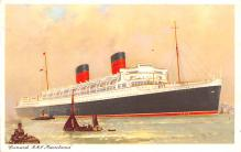 shp010953 - White Star Line Cunard Ship Post Card, Old Vintage Antique Postcard