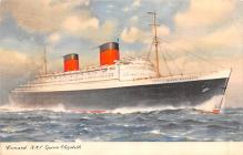shp010973 - White Star Line Cunard Ship Post Card, Old Vintage Antique Postcard