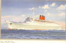 shp010983 - White Star Line Cunard Ship Post Card, Old Vintage Antique Postcard