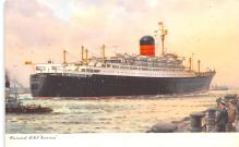 shp010987 - White Star Line Cunard Ship Post Card, Old Vintage Antique Postcard
