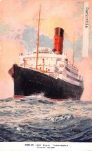 shp011013 - White Star Line Cunard Ship Post Card, Old Vintage Antique Postcard