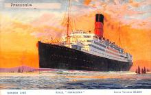shp011031 - White Star Line Cunard Ship Post Card, Old Vintage Antique Postcard