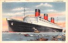 shp011035 - White Star Line Cunard Ship Post Card, Old Vintage Antique Postcard