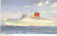 shp011037 - White Star Line Cunard Ship Post Card, Old Vintage Antique Postcard