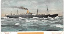 shp011039 - White Star Line Cunard Ship Post Card, Old Vintage Antique Postcard