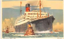 shp011051 - White Star Line Cunard Ship Post Card, Old Vintage Antique Postcard