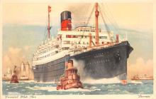 shp011055 - White Star Line Cunard Ship Post Card, Old Vintage Antique Postcard