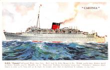 shp011061 - White Star Line Cunard Ship Post Card, Old Vintage Antique Postcard