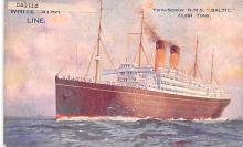 shp011063 - White Star Line Cunard Ship Post Card, Old Vintage Antique Postcard