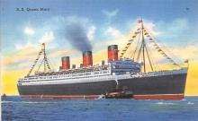 shp011065 - White Star Line Cunard Ship Post Card, Old Vintage Antique Postcard