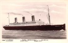 shp011073 - White Star Line Cunard Ship Post Card, Old Vintage Antique Postcard