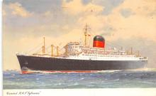shp011077 - White Star Line Cunard Ship Post Card, Old Vintage Antique Postcard