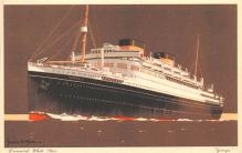 shp011079 - White Star Line Cunard Ship Post Card, Old Vintage Antique Postcard