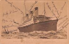 shp011083 - White Star Line Cunard Ship Post Card, Old Vintage Antique Postcard