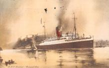 shp011089 - White Star Line Cunard Ship Post Card, Old Vintage Antique Postcard