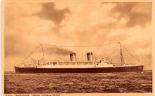 shp011103 - White Star Line Cunard Ship Post Card, Old Vintage Antique Postcard