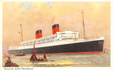 shp011111 - White Star Line Cunard Ship Post Card, Old Vintage Antique Postcard