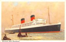 shp011115 - White Star Line Cunard Ship Post Card, Old Vintage Antique Postcard