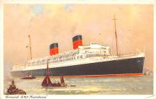 shp011117 - White Star Line Cunard Ship Post Card, Old Vintage Antique Postcard