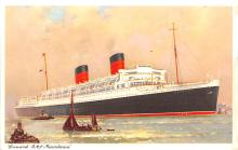 shp011119 - White Star Line Cunard Ship Post Card, Old Vintage Antique Postcard