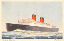 shp011121 - White Star Line Cunard Ship Post Card, Old Vintage Antique Postcard