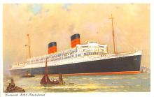shp011123 - White Star Line Cunard Ship Post Card, Old Vintage Antique Postcard