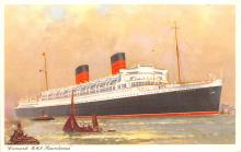 shp011131 - White Star Line Cunard Ship Post Card, Old Vintage Antique Postcard