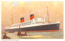 shp011133 - White Star Line Cunard Ship Post Card, Old Vintage Antique Postcard