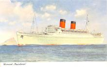 shp011135 - White Star Line Cunard Ship Post Card, Old Vintage Antique Postcard