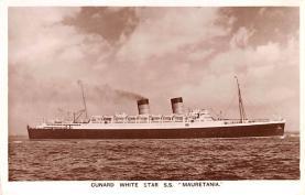 shp011141 - White Star Line Cunard Ship Post Card, Old Vintage Antique Postcard