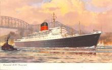 shp011143 - White Star Line Cunard Ship Post Card, Old Vintage Antique Postcard