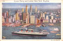shp011149 - White Star Line Cunard Ship Post Card, Old Vintage Antique Postcard