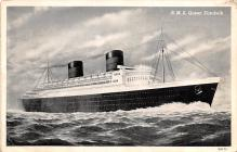 shp011153 - White Star Line Cunard Ship Post Card, Old Vintage Antique Postcard