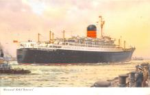 shp011155 - White Star Line Cunard Ship Post Card, Old Vintage Antique Postcard