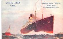 shp011157 - White Star Line Cunard Ship Post Card, Old Vintage Antique Postcard