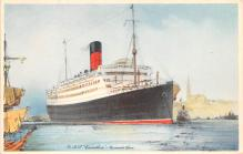 shp011159 - White Star Line Cunard Ship Post Card, Old Vintage Antique Postcard