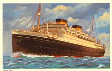 shp011161 - White Star Line Cunard Ship Post Card, Old Vintage Antique Postcard